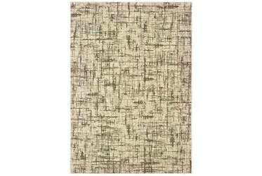 """1'9""""x3' Rug-Distressed Modern Ivory/Brown"""