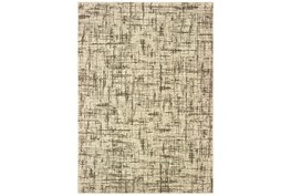 79X114 Rug-Distressed Modern Ivory/Brown