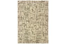 94X130 Rug-Distressed Modern Ivory/Brown