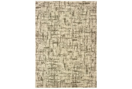 94X130 Rug-Distressed Modern Ivory/Brown