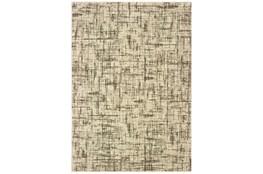 118X154 Rug-Distressed Modern Ivory/Brown