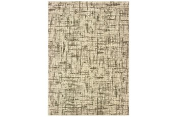 94X94 Rug-Distressed Modern Ivory/Brown