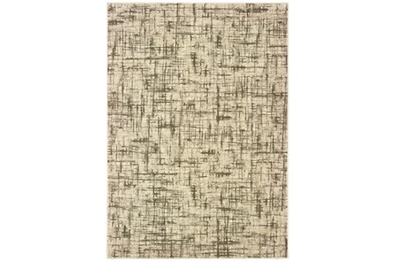 94 Inch Round Rug-Distressed Modern Ivory/Brown