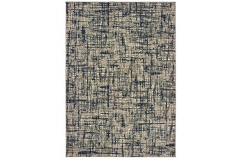 27X90 Rug-Distressed Modern Grey/Navy