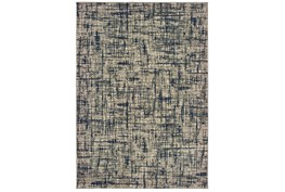 46X65 Rug-Distressed Modern Grey/Navy