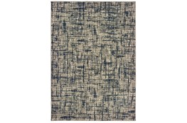 "3'8""x5'4"" Rug-Distressed Modern Grey/Navy"