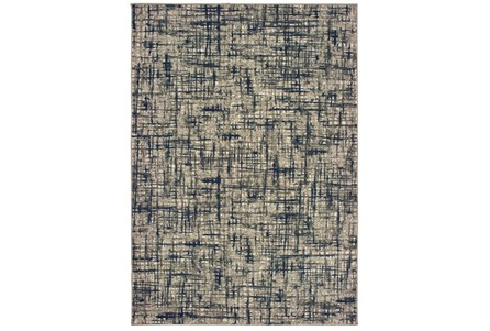 63X90 Rug-Distressed Modern Grey/Navy