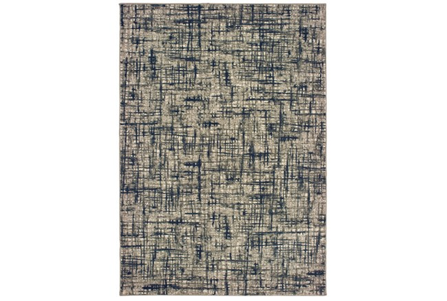 79X114 Rug-Distressed Modern Grey/Navy - 360