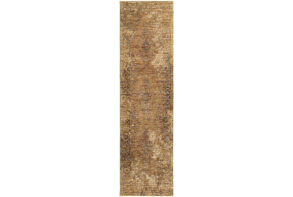 30X144 Rug-Adarra Moroccan Faded Gold