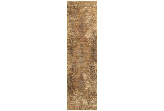 30X144 Rug-Adarra Moroccan Faded Gold - 360