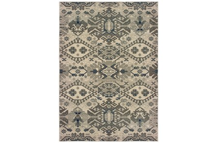 79X114 Rug-Lodge Grey/Ivory