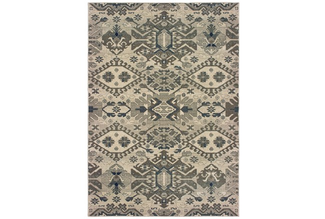 94X130 Rug-Lodge Grey/Ivory - 360