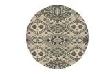 94 Inch Round Rug-Lodge Grey/Ivory - Signature