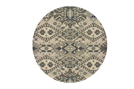 94 Inch Round Rug-Lodge Grey/Ivory