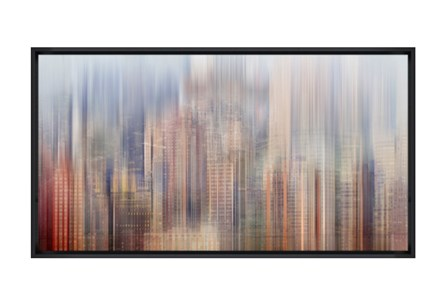 Picture-43X24 City Rise Glass Framed
