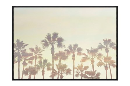 Picture-34X24 Palm Tree Paradise Glass Framed - Main