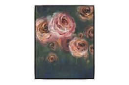 Picture-30X38 Blooming Roses Canvas Print