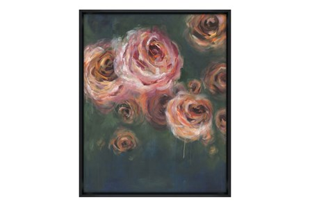 Picture-30X38 Blooming Roses Glass Framed