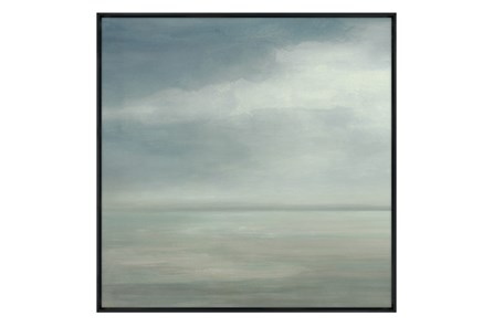 Picture-36X36 Seaside I Glass Framed - Main