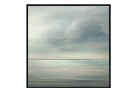 Picture-36X36 Seaside III Glass Framed