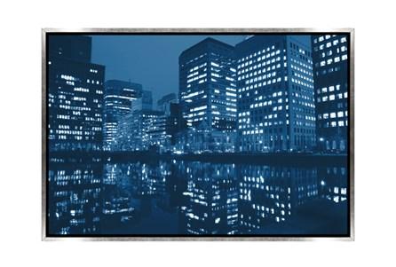 Picture-45X30 Blue Light City Canvas Print