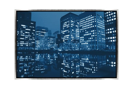 Picture-45X30 Blue Light City Canvas Print - Main