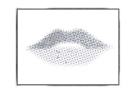 Picture-40X30 Lippy Lips Canvas Print