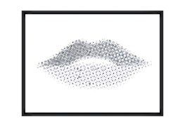 Picture-40X30 Lippy Lips Glass Framed
