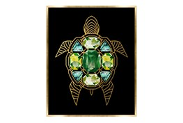 Picture-24X30 Turtle With Jewels Canvas Print