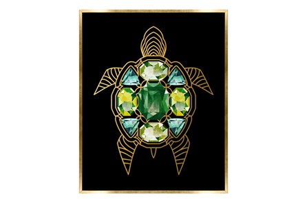 Picture-24X30 Turtle With Jewels Canvas Print - Main