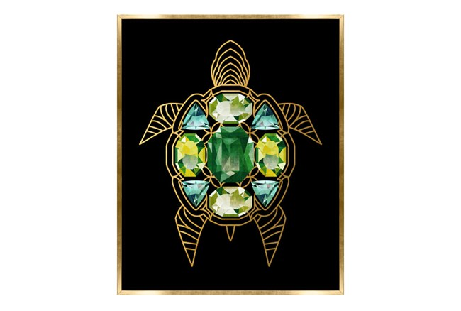 Picture-24X30 Turtle With Jewels Canvas Print - 360