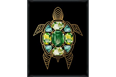 Picture-24X30 Turtle With Jewels Glass Framed