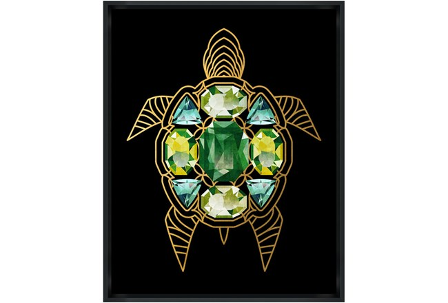 Picture-24X30 Turtle With Jewels Glass Framed - 360