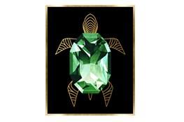 Picture-24X30 Emerald Turtle Canvas Print