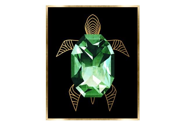 Picture-24X30 Emerald Turtle Canvas Print - 360