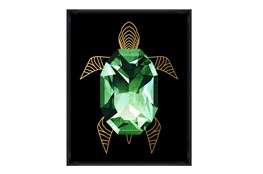 Picture-24X30 Emerald Turtle Glass Framed