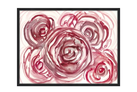 Picture-32X24 Spring Rosette Glass Framed