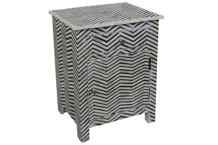 Chevron Inlay Cabinet