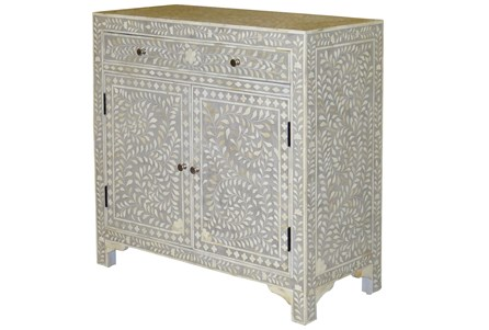 Grey Bone Inlay 2 Door Sideboard