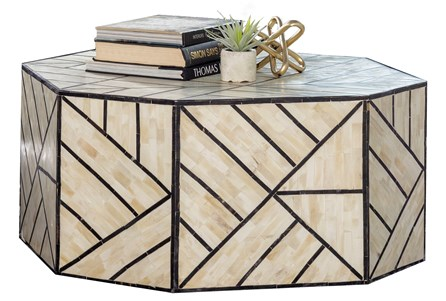 Geometric Inlay Coffee Table