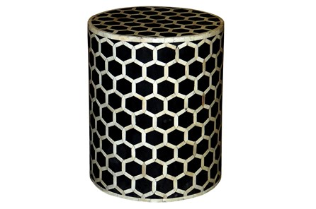 Oct Inlay Pattern Side Table