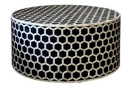 Oct Inlay Pattern Coffee Table