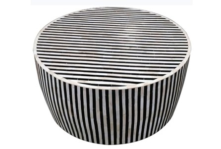 Striped Inlay Coffee Table