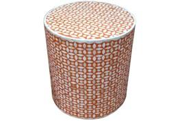 Orange Inlay Side Table