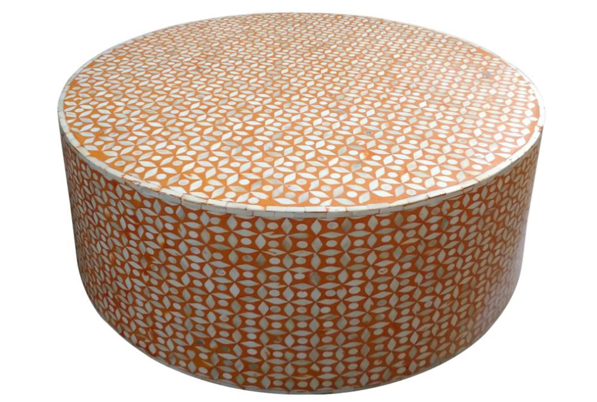 Orange Inlay Coffee Table Living Spaces