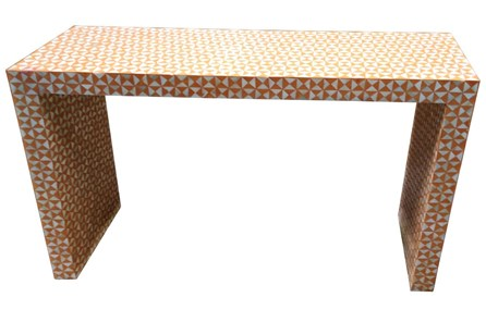 Orange Inlay Console Table