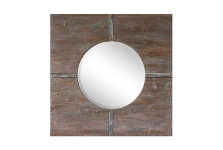 Colored Wood Framed Mirror