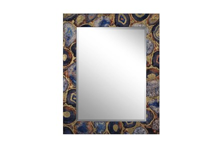 Wood Frame And Beveled Mirror - Main
