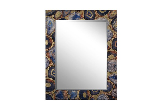 Wood Frame And Beveled Mirror - 360