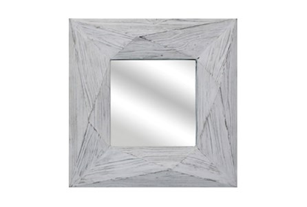 White Wash Mirror